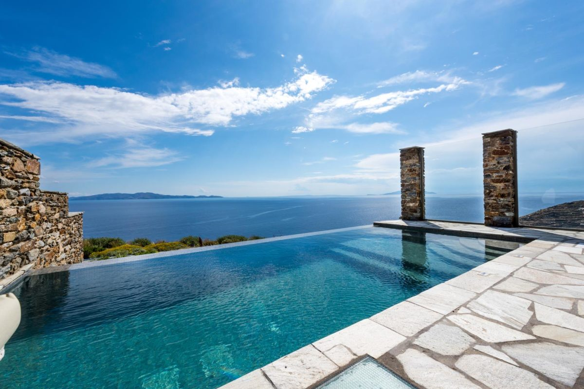 Sea view from the hotel's pool | Vathi Bleu Private Villas | Enjoy Our Accommodation